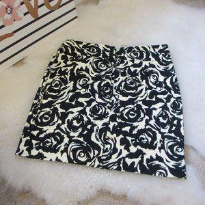 Black & White Roses Skirt